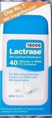 Lactrase 18000 FCC 2 mal  40 K  Lactase 18.000  neue praktische Spenderpackung