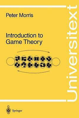 Introduction to Game Theory by Peter Morris (English) Paperback Book Free Shippi