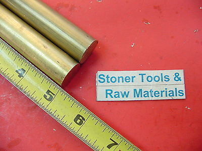 """2 Pieces 3/4"""" C360 BRASS SOLID ROUND ROD 5"""" long Lathe Bar Stock .750"""" OD H02"""