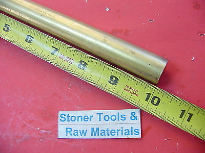 "3/4"" C360 BRASS ROUND ROD 10"" long Solid .750"" Diameter New Lathe Bar Stock  H02"