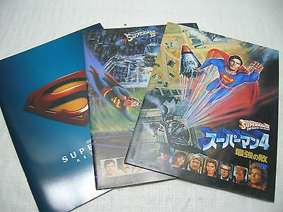 Movie Programmes Superman Christopher Reeve Japanese Program Magazine Movie x 3