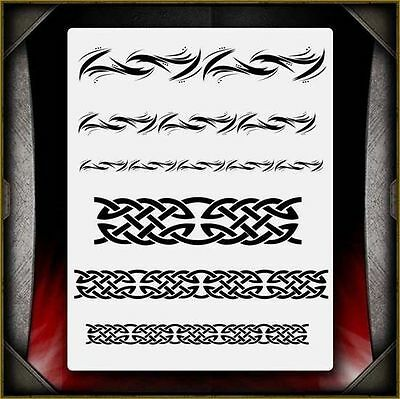 """Celtic / Tribal 2"" Airbrush Stencil Template Airsick"