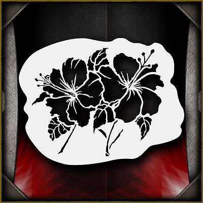 Hibiscus Flowers -  Airbrush Stencil Template Airsick