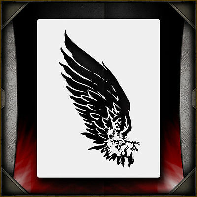 Angel Wing 1 -  Airbrush Stencil Template Airsick