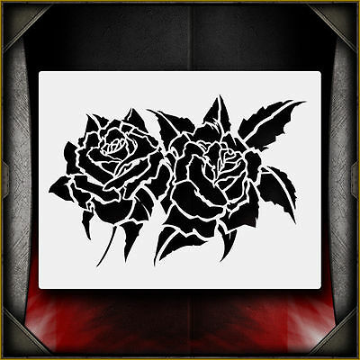 Roses -  Airbrush Stencil Template Airsick