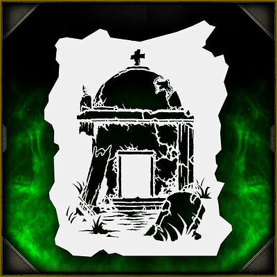 Mauloleum 1 - Airbrush Stencil Template Airsick Zombies