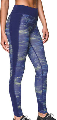 Under Armour ColdGear Ladies Long Running Tights - Purple