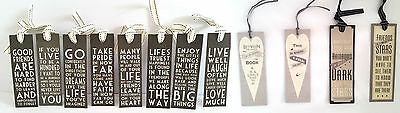 East of India Vintage Black Motivational/ Inspirational Quote Bookmarks, Gift