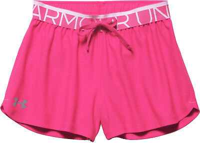 Under Armour Play Up Junior Running Shorts - Pink