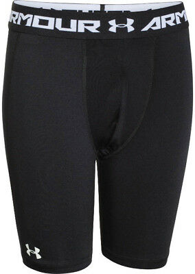 Under Armour HeatGear Armour Long Fitted Junior Shorts - Black