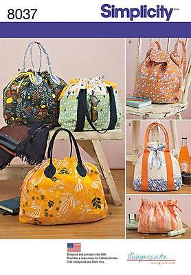 Simplicity Sewing Pattern Backpack Totes & Cosmetic Bag  8037