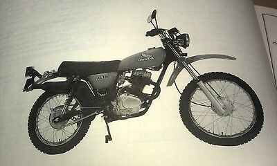 1977 HONDA XL100K3 Motorcycle Factory Parts  Book