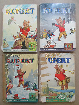 Rupert Annuals (1960's) - 4 Books Collection! (ID:29342)