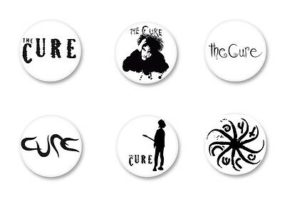 Lot Pack Magnet Aimant Frigo Ø38mm Logo The Cure Robert Smith Rock UK