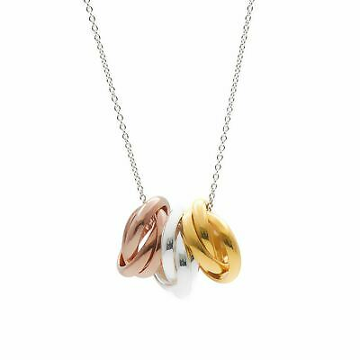 Silverly .925 Sterling Silver Rose Gold-Plated Yellow Gold-Plated  Necklace