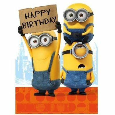 Minions Movie Happy Birthday Card New Gift Despicable Me