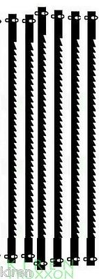 PROXXON 28744 6 pcs FINE SCROLL 25 TPI SAW BLADE DSH STEEL BLADES WITH PIN ENDS