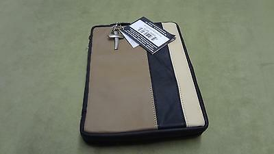 Crimson Truth Handcrafted Genuine Leather Bible Cover brown dual tone nice