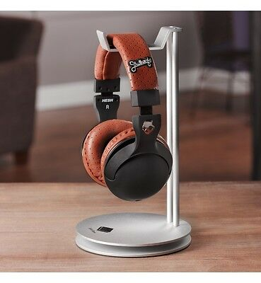 Solid Base Pro Aluminum Desktop Headphones Stand Hanger fo Beats DNA Bose Chrome