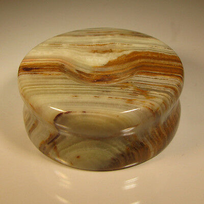"2"" Carved BANDED ONYX STAND for Spheres, Eggs, Balls, Globes, etc."