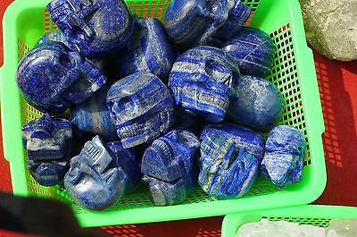 Wholesale prices Natural Lapis Lazuli Carved Skull Carving Crystal Healing 1kg