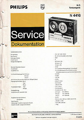 Service Manual instructions for Philips N 4416