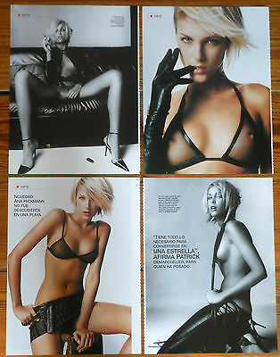 ANA HICKMANN 6 page sexy article spanish magazine Brazil model clippings