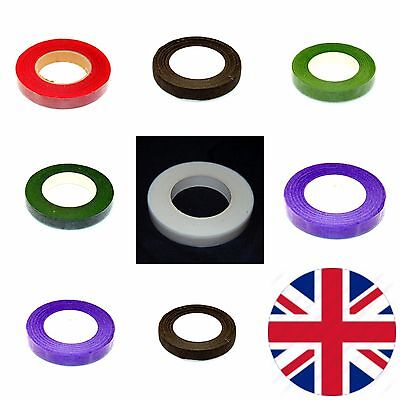 Florist Stem Tape - Wire Floral Work - Buttonholes Craft Floristry Green ML