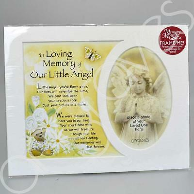In Loving Memory of Our Little Angel Photo Frame Mount Tribute Memorial Plaque