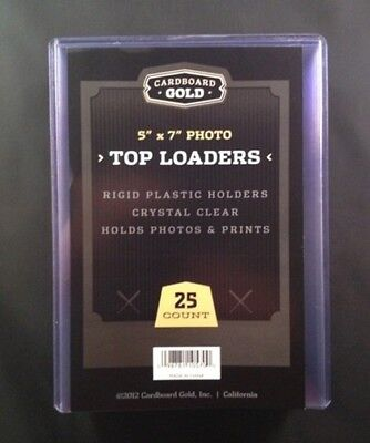 100 5x7 Ultra CBG Premium Pro Hard Rigid Toploaders Photo Topload Holders - New