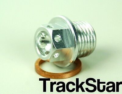 Triumph 1050 Speed Triple Machined Magnetic Drilled Sump Plug Silver 302Spsl