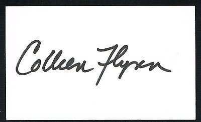 Colleen Flynn signed autograph auto 3x5 card Actress: ER, China Beach, X-Files