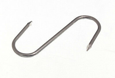 Butchers Pointed S Hook Kitchen Utility Rack 3 Inch 75Mm Zp Steel- Parcel Of 6