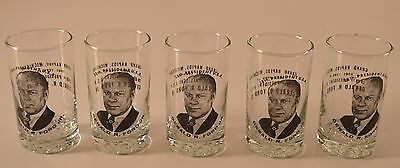 5pc Set of Gerald Ford  Presidential Glasses