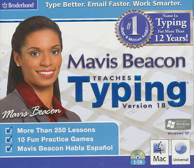 MAVIS BEACON TEACHES TYPING 18 for Windows PC & MAC - Keyboard Software - NEW