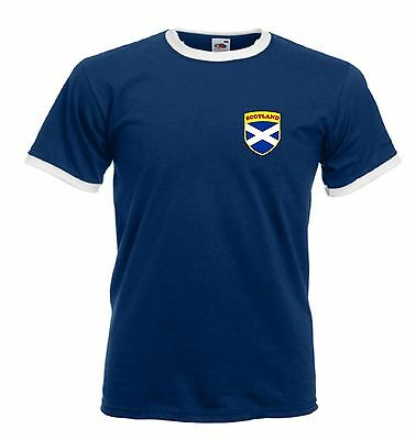 Scotland Scottish Rugby / Football Flag Crest T-Shirt - All Sizes Available