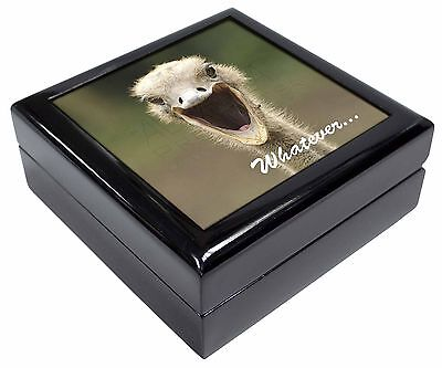 Ostritch with 'Whatever' Picture Jewellery Box Christmas Gift, AB-OS2JB