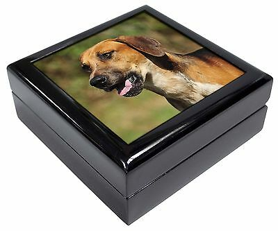 Foxhound Dog Picture Jewellery Box Christmas Gift, AD-FH1JB