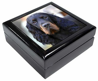 Gordon Setter Dog Picture Jewellery Box Christmas Gift, AD-GOR2JB