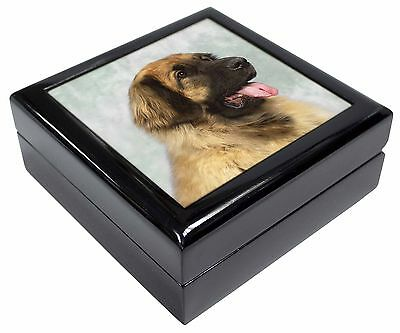 Blonde Leonberger Dog Picture Jewellery Box Christmas Gift, AD-LE1JB