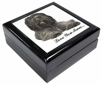 Tibetan Terrier 'Love You Mum' Picture Jewellery Box Christmas Gift, AD-TT2lymJB