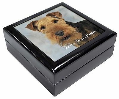Welsh Terrier Dog 'Love You Mum' Picture Jewellery Box Christmas Gi, AD-WT1lymJB