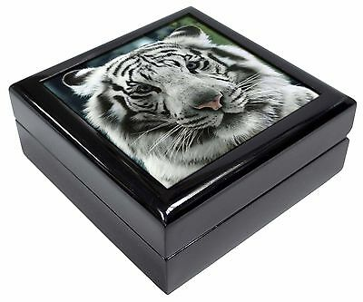 Siberian White Tiger Picture Jewellery Box Christmas Gift, AT-13JB