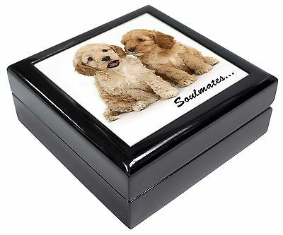 Cockerpoodle Puppy Dogs 'Soulmates' Picture Jewellery Box Christmas G, SOUL-27JB