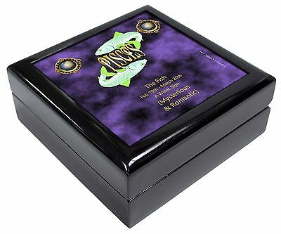 Pisces Star Sign Birthday Gift Keepsake/Jewellery Box Christmas Gift, ZOD-12JB