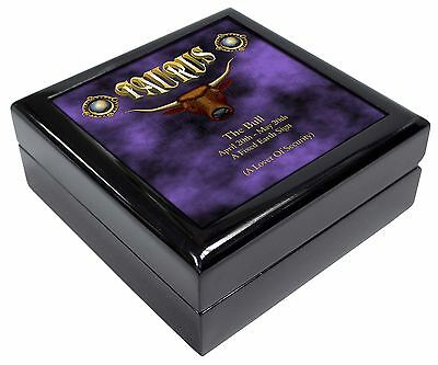 Taurus Star Sign Birthday Gift Keepsake/Jewellery Box Christmas Gift, ZOD-2JB