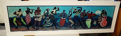 """Roederick Vine """"A Soul Food Nite"""" Limited Edition Hand Signed Lithograph"""
