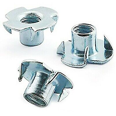 M5 M6 M8 M10 A2 Stainless Tee Nuts, Drive In, Four 4 Pronged, Captive T Nut
