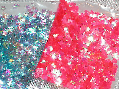 1pc bag of Sparkly Fairy glitter for bottle vials pick your color Star Heart *~