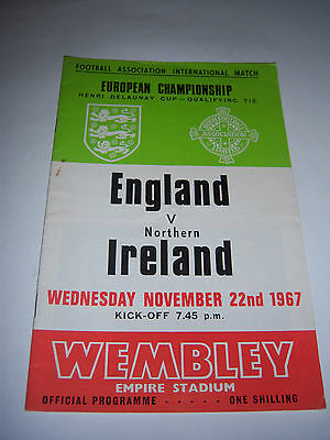 ENGLAND v NORTHERN IRELAND - NOV 1967 - EUROS INTERNATIONAL FOOTBALL PROGRAMME